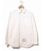 FRAGMENT × WACKO MARIA(フラグメント×ワコマリア)の古着「BROAD REGULAR COLLAR SHIRT」|ホワイト