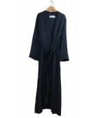 JANE SMITH(ジェーンスミス)の古着「JACQUARD KIMONO COAT」|ブラック