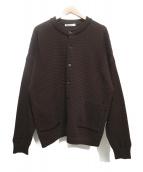 YASHIKI(ヤシキ)の古着「薦掛けカーディガン」|ブラウン
