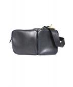 土屋鞄(ツチヤカバン)の古着「ビークルトリジップボディーバッグ」|ネイビー