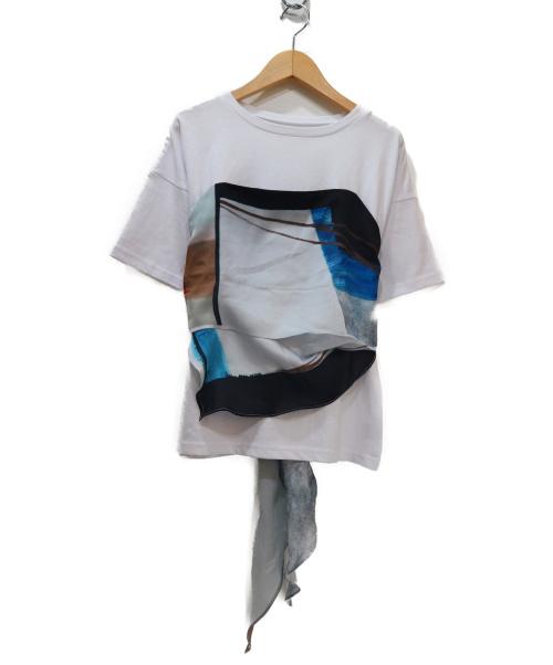 Ameri(アメリ)AMERI (アメリヴィンテージ) スカーフデザインTシャツ ホワイト サイズ:記載なしの古着・服飾アイテム