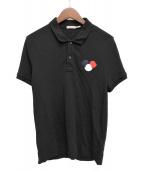 MONCLER(モンクレール)の古着「トリプルワッペンポロシャツ」|ブラック