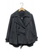 MONCLER(モンクレール)の古着「ナイロンショートPコート」|ブラック
