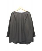 Demi-Luxe BEAMS(デミルクスビームス)の古着「サイドタックオーバーブラウス」|チャコールグレー