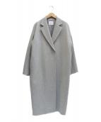 VERMEIL par iena(ヴェルメイユ パー イエナ)の古着「ジロンラムウールビーバーコート」|グレー
