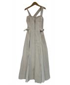 casa fline(カーサフライン)の古着「フロントホックプリーツワンピース(ジャンパースカート」|アイボリー