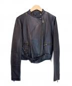 BANANA REPUBLIC(バナナリパブリック)の古着「レザージャケット」 ブラック