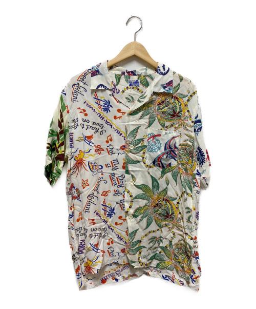 Sun Surf(サンサーフ)Sun Surf (サンサーフ) 別注クレイジーアロハシャツ ホワイト サイズ:L BEAMS別注の古着・服飾アイテム