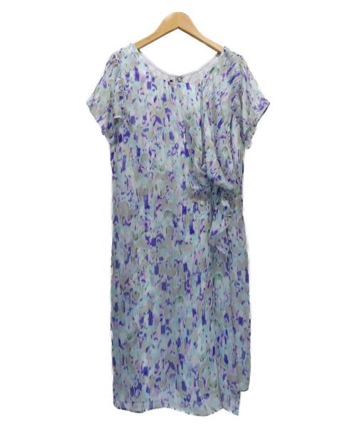 EMPORIO ARMANI(エンポリオアルマーニ)EMPORIO ARMANI (エンポリオアルマーニ) シルクワンピース ブルー サイズ:42 未使用品の古着・服飾アイテム