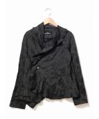 tricot COMME des GARCONS(トリコ コムデギャルソン)の古着「フラワージャガードジャケット」|ブラック