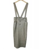 allureville(アルアバイル)の古着「クラシカルツイードサロペットスカート」
