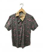 Vivienne Westwood man()の古着「フラミンゴプリントシャツ」 グレー