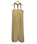 Ameri VINTAGE(アメリビンテージ)の古着「OVERALLS LIKE DRESS  ワンピース」 ベージュ