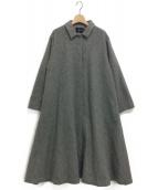 mizuiro-ind(ミズイロインド)の古着「ポンチョ風ステンカラーコート」|グレー