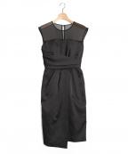 LAGUNA MOON(ラグナムーン)の古着「LADYシアーラップタイトドレス」|ブラック
