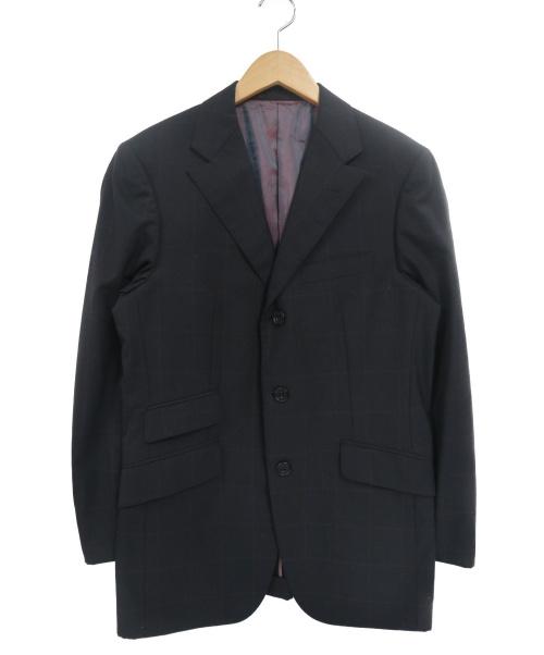 BURBERRY BLACK LABEL(バーバリーブラックレーベル)BURBERRY BLACK LABEL (バーバリーブラックレーベル) 3Bセットアップスーツ ブラック サイズ:38Rの古着・服飾アイテム