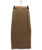 Deuxieme Classe(ドゥーズィエムクラス)の古着「ベロアタイトスカート」 ベージュ