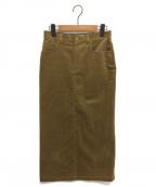 Lisiere(リジェール)の古着「コーデュロイスカート」|キャメル