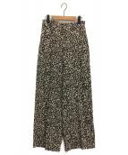 LE CIEL BLEU(ルシェルブルー)の古着「Leopard Print Crease LinePants」|ベージュ