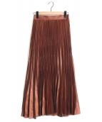 JILL STUART(ジルスチュアート)の古着「アンドレアランダムプリーツスカート」|ブラウン