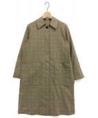 yori(ヨリ)の古着「チェックコート」|ベージュ