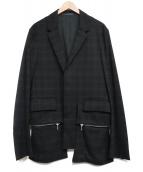 KRIS VAN ASSCHE(クリスヴァンアッシュ)の古着「比翼テーラードジャケット」|ブラック