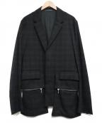 KRIS VAN ASSCHE(クリス ヴァン アッシュ)の古着「比翼テーラードジャケット」 ブラック