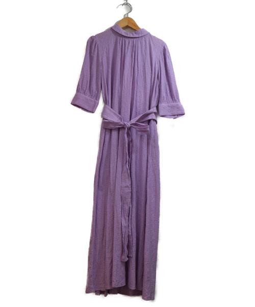FRAY ID(フレイアイディー)FRAY ID (フレイアイディー) ハイネックコットンレースワンピース パープル サイズ:1の古着・服飾アイテム
