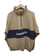 CHARI&CO(チャリアンドコー)の古着「HIGH NECK PULLOVER」|ベージュ