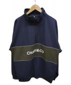 CHARI&CO(チャリアンドコー)の古着「HIGH NECK PULLOVER」|ネイビー