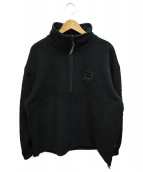FILA(フィラ)の古着「HALF ZIP JACKET」|ブラック