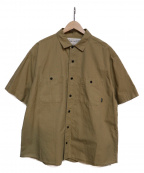 POLeR(ポーラー)の古着「WASHED S/S BUTTON DOWN SHIRT」 ベージュ