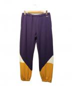 VOTE MAKE NEW CLOTHES(ヴォートメイクニュークローズ)の古着「3C SWT PT」|パープル