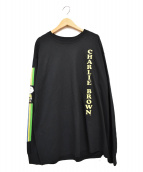 VOTE MAKE NEW CLOTHES(ヴォートメイクニュークローズ)の古着「CHARLIEBROWN L/S TEE」|ブラック