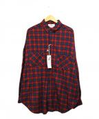 VOTE MAKE NEW CLOTHES(ヴォートメイクニュークローズ)の古着「MARVEL NEL BIG SHIRTS」|レッド