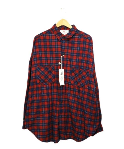 VOTE MAKE NEW CLOTHES(ヴォートメイクニュークローズ)VOTE MAKE NEW CLOTHES (ヴォートメイクニュークローズ) MARVEL NEL BIG SHIRTS レッド サイズ:Mの古着・服飾アイテム