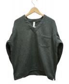 WAX(ワックス)の古着「Wool mix V neck shirts」|カーキ
