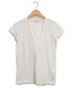 MADISON BLUE(マディソンブルー)の古着「DEEP V NECK Tシャツ」 ホワイト