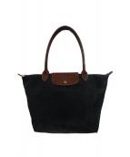 LONGCHAMP(ロンシャン)の古着「折りたたみナイロントートバッグ」|ブラック