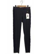 VIKTOR&ROLF(ヴィクターアンドロルフ)の古着「サイドケーブルニットラインパンツ」|ブラック