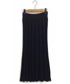 robe de chambre(ローブドシャンブル)の古着「ニットスカート」|ブラック