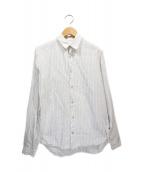 FRANK LEDER(フランクリーダ)の古着「リネンストライプシャツ」|ホワイト
