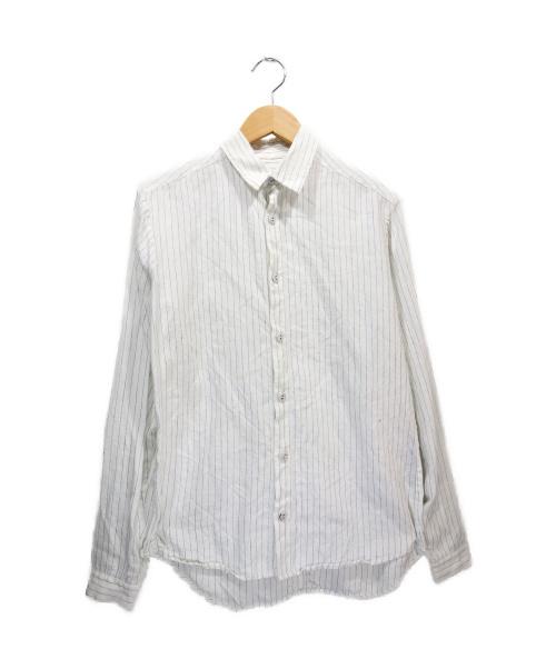 FRANK LEDER(フランクリーダー)FRANK LEDER (フランクリーダ) リネンストライプシャツ ホワイト サイズ:XSの古着・服飾アイテム