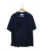 SUNNEI(スンネイ)の古着「ラップシャツ」|ネイビー