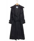Blumarine(ブルマリン)の古着「ガウンコート」|ブラック