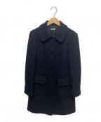 MIU MIU()の古着「編上ステンカラーウールコート」|ブラック