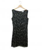 MAX&Co.(マックスアンドコー)の古着「装飾ノースリーブワンピース」|ブラック