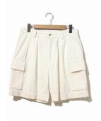H BEAUTY&YOUTH(エイチ ビューティアンドユース)の古着「CORDUROY CARGO SHORT PANTS」|ホワイト