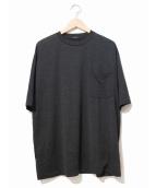 COMOLI(コモリ)の古着「ウール天竺半袖Tシャツ」 ブラック