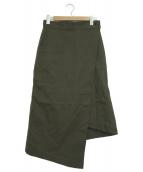 HYKE(ハイク)の古着「ラップスカート」|オリーブ